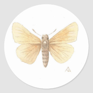 Dakota Skipper cropped Classic Round Sticker