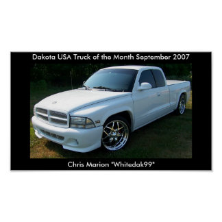Dakota USA 2007 Truck of the Month Poster