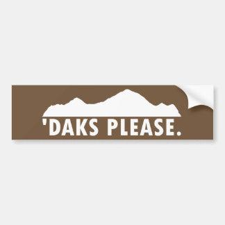 Daks Please Bumper Sticker