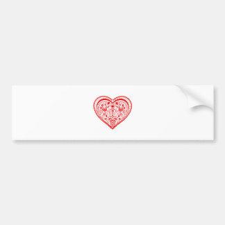 Dala Heart Bumper Sticker