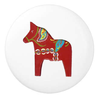 Dala Horse Ceramic Knob