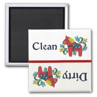 Dala Horse Dishwasher Helper Square Magnet