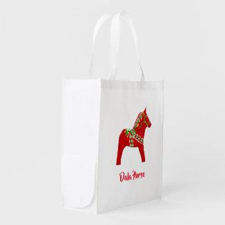 Dala Horse Folding Grocery Bag
