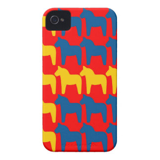 Dala Horse Red Flag iPhone 4 Case-Mate Cases