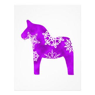 Dala Horse Snowflake Letterhead