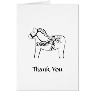 Dala Horse Thank You Card