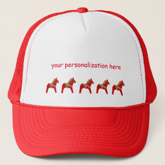 Dala Horse to Personalize or Customize Trucker Hat