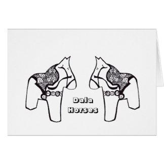 Dala Horses Card