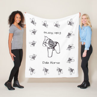 Dala Horses Fleece Blanket