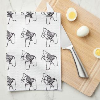 Dala Horses Kitchen Towel