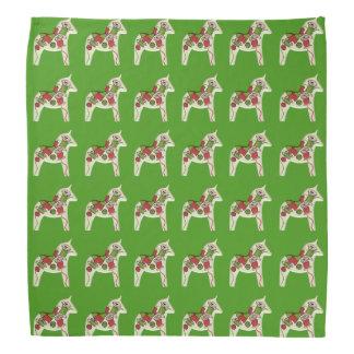 Dala Horses with Sewing designs Bandana