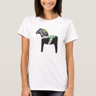 Dalahäst | Dala horse in black T-Shirt