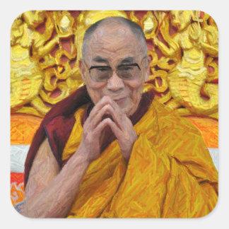 Dalai Lama Buddha Buddhist Buddhism Meditation Square Sticker