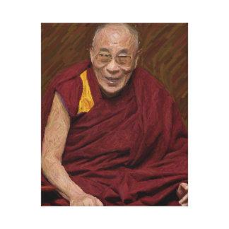 Dalai Lama Buddha Buddhist Buddhism Meditation Yog Canvas Print