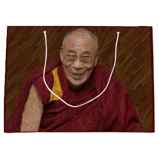 Dalai Lama Buddha Buddhist Buddhism Meditation Yog Large Gift Bag