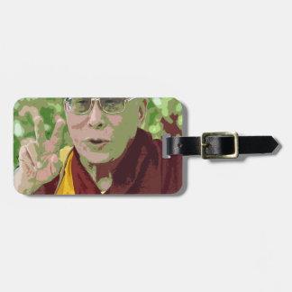 Dalai Lama Buddha Buddhist Buddhism Meditation Yog Luggage Tag