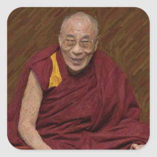 Dalai Lama Buddha Buddhist Buddhism Meditation Yog Square Sticker