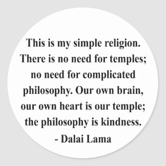 dalai lama quote 6a classic round sticker
