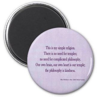Dalai Lama round magnet
