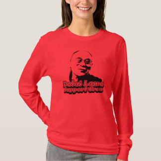 Dalai Lama Support Crew - Freedom red T-Shirt