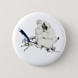 Dale Bluejay 2 Inch Round Button