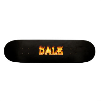 Dale skateboard fire and flames design.