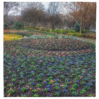 Dallas Arboretum and Botanical Gardens flower bed Napkin