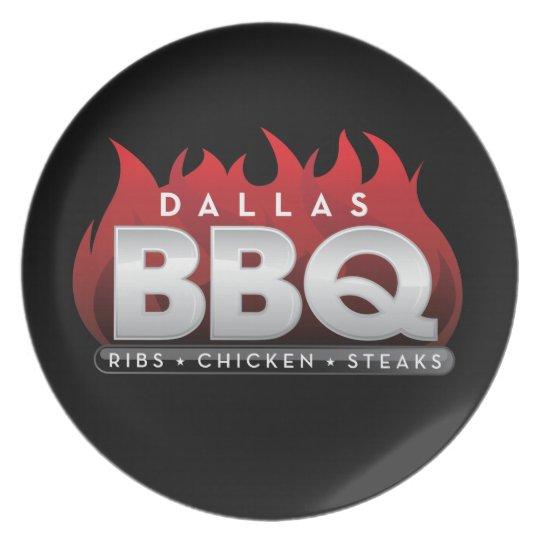 Dallas BBQ Melamine Plate