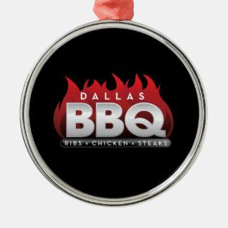Dallas BBQ Premium Round Ornament