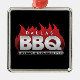 Dallas BBQ Premium Square Ornament