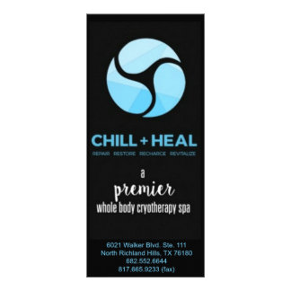 Dallas Chill + Heal Rackcard Rack Card