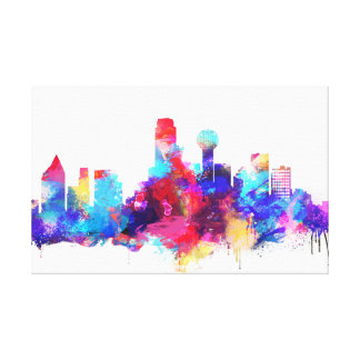 Dallas City Art, Texas Canvas Print