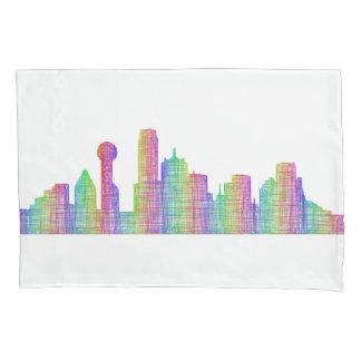 Dallas city skyline pillowcase