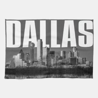 Dallas Cityscape Kitchen Towel