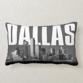 Dallas Cityscape Lumbar Pillow