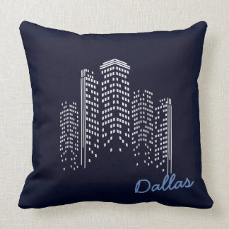 Dallas cityscape Polyester Pillow