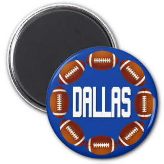 DALLAS FOOTBALL CIRCLE MAGNET