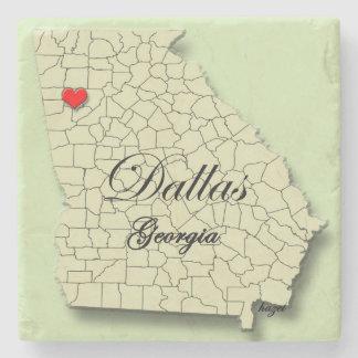 Dallas, Georgia, Map, Coasters Stone Beverage Coaster