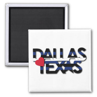 Dallas Leather Stripe Magnet