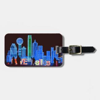 Dallas Mock Skyline Luggage Tag