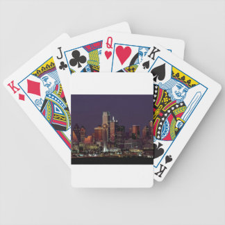 Dallas Night Skyline Bicycle Playing Cards