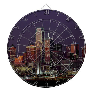 Dallas Night Skyline Dartboard