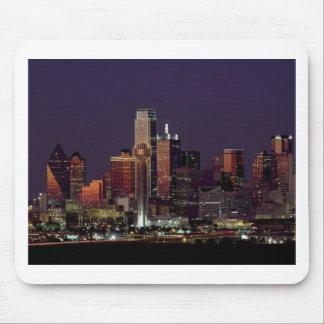 Dallas Night Skyline Mouse Pad