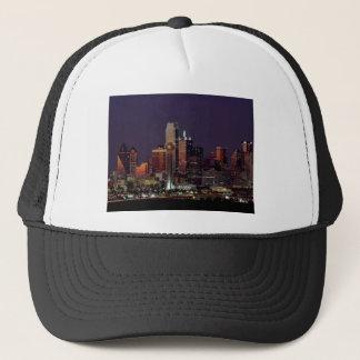 Dallas Night Skyline Trucker Hat