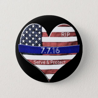 Dallas Police Memorial 2 Inch Round Button