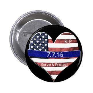 Dallas Police Memorial 2 Inch Round Button