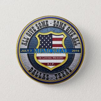 Dallas Police Thin Blue Line Memorial 2 Inch Round Button