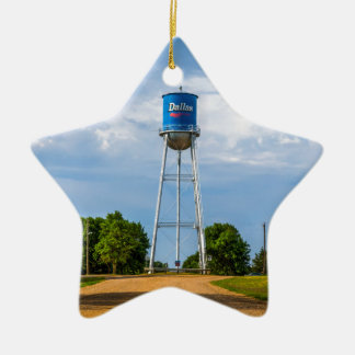 Dallas, SD Water Tower & Museum Ceramic Star Ornament