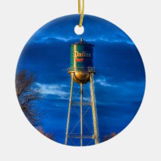 Dallas, SD Water Tower Round Ceramic Ornament