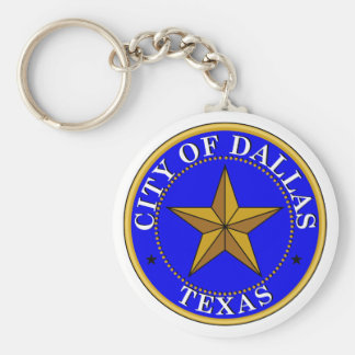 Dallas Seal Basic Round Button Keychain